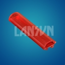 red Polycarbonate tube
